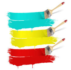 paint brush with color banners