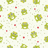 Frog Prince seamless background. Vector illustration.