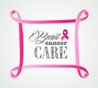 Breast cancer awareness concept frame illustration EPS10 file.