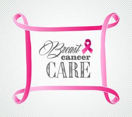 Breast cancer awareness concept frame illustration EPS10 file.