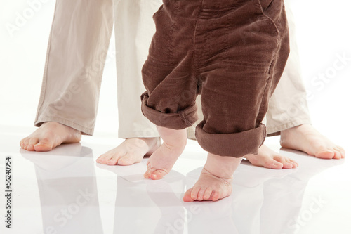 canvas print picture Baby's first steps