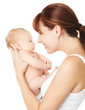 Happy mother with newborn baby, maternity love