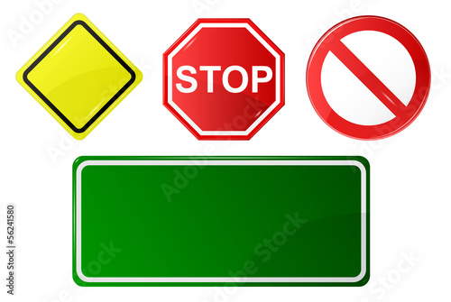 basic set of road signs