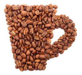 Coffee grains as a concept background