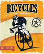 Vintage bicycles poster design