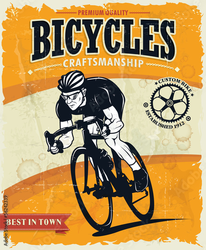 Vintage bicycles poster design