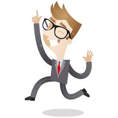 Businessman, jumping, celebrating, happy
