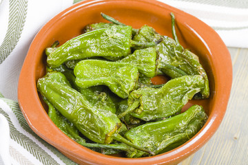 Padron Peppers - Fried green peppers with olive oil and sea salt