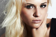 beautiful blond girl with smoky eyes.beauty woman