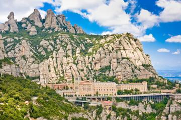 Панорама монастыря Монсеррат , Каталония, Испания