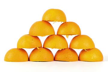 10 Orangenschalen