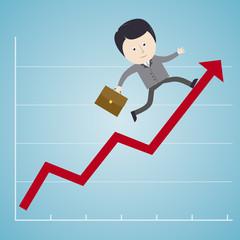 Business - Erfolg - Aufsteigen / Illustration