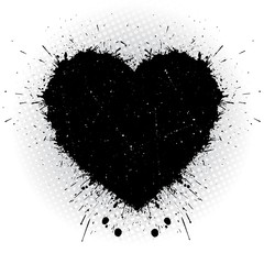 Black ink heart.