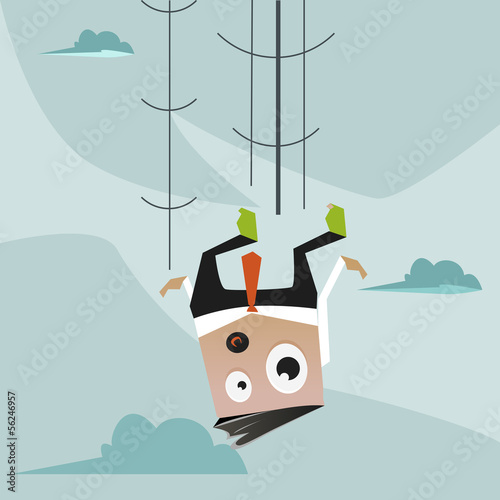 Office Man falling