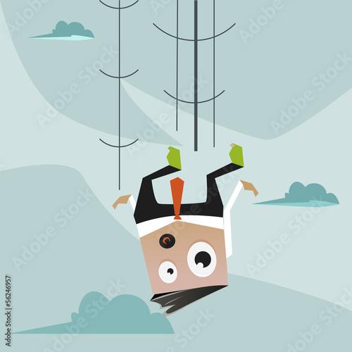 Office Man falling