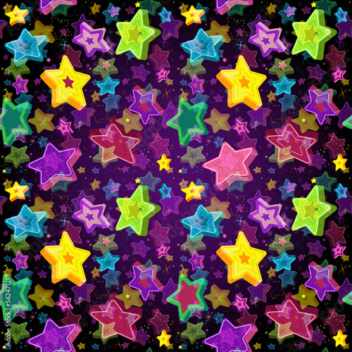 Bright seamless pattern Christmas Star
