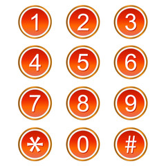 Red numbers icons
