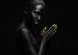 beauty portrait of a beautiful black woman. - 56248557
