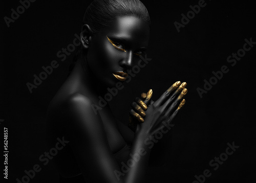 beauty portrait of a beautiful black woman.