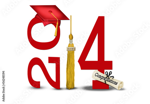red graduation cap for 2014