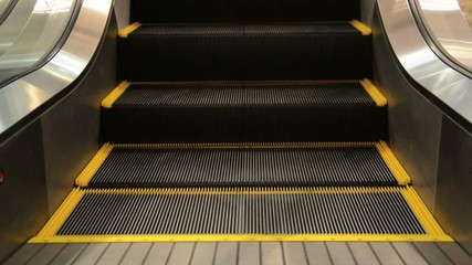 movement of the  escalators stairway