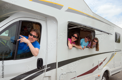 Family vacation, RV (motorhome) travel with kids - 56248968