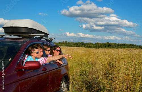 Car trip on family vacation, travel and have fun