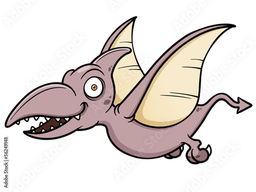 Vector illustration of Cartoon pteranodon