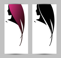 banner template with female profile