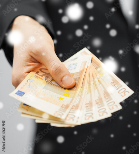 man in suit with euro cash money