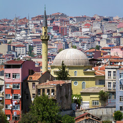 Istanbul downtown city view
