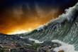 Leinwanddruck Bild - Tsunami waves