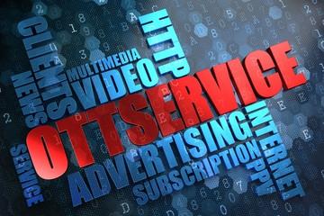OTT Service.  Wordcloud Concept.
