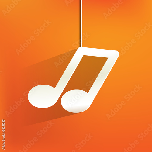 Music web icon,flat design