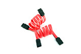 Red SATA cable. poster