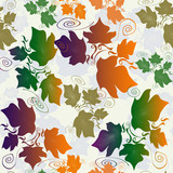 Seamless pattern background with leaves
