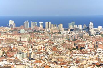 Aussicht auf das Häusermeer in Barcelona