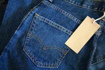 Jeans with Tag