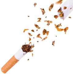 Breaking cigarette, quit smoking