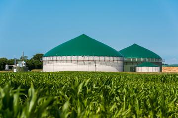 Biogas-Anlage mit Maisfeld 3085