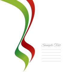 Italian left ribbon vector