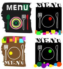 set di ilustrazioni adatte alla ristorazione