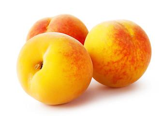 Three bright peach