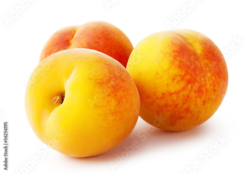 Three bright peach