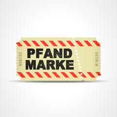 ticket v3 pfandmarke I