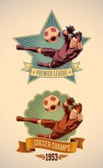 Soccer champs labels