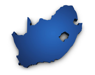 Map Of South Africa 3d Shape