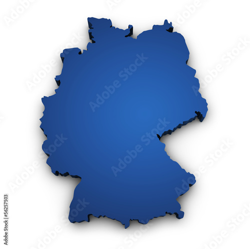 Map Of Germany 3d Shape