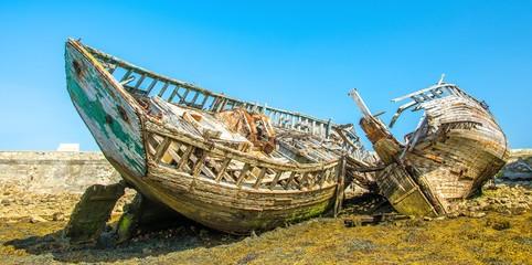 Epaves de navire à Camaret en Bretagne