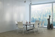 Modern white light dining room